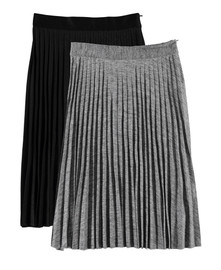 Women's Metallic Pleated Skirt