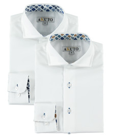 Boys L/S Dress Shirt With G&B Contrast