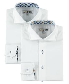Boys L/S Dress Shirt With G&B Contrast