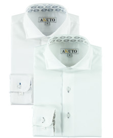 Boys L/S Dress Shirt With B&G Contrast