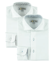 Boys L/S Dress Shirt With B&B Contrast