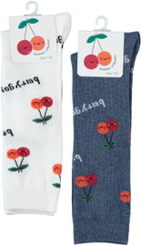 Girls Bimbam Cherry Knee Sock