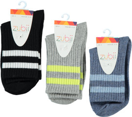 Girls Striped Sports Ankle Sock