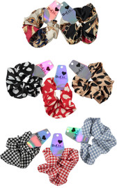 Girls Silk Patterned Scrunchy