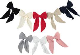 Muslin Bow Large Clip