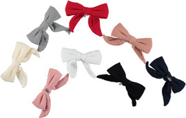 Muslin Bow Medium Clip