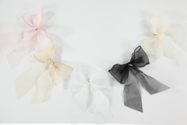 Organza Bow Large Clip