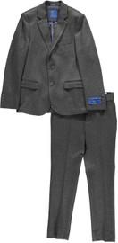 Boys Charcoal Knit Slim Suit