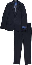 Boys Navy Knit Slim Suit