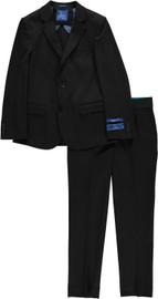 Boys Black Knit Slim Suit