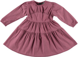 Girls Puff L/S Yoke Dress