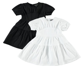 Girls Puff Sleeve Yoke Dress