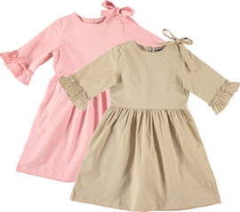 Girls Ruffle Sleeve Shabbos Dress