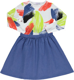 Girls Paint Splash Dress