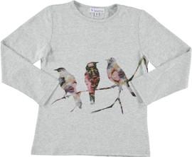 Girls Birds On a Branch Cotton Tee