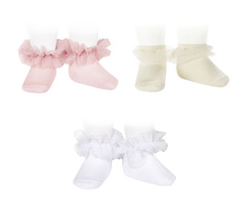 Tulle Frill Ankle Sock