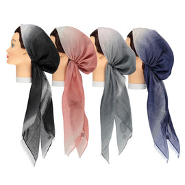 Striped Lurex Pre-tied Headscarves