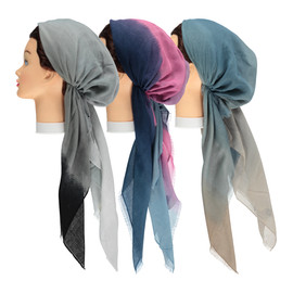 Ombre Pre-tied Headscarves