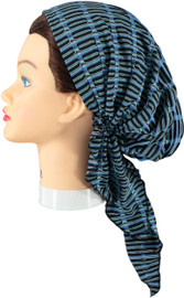 Riqki Cotton Stripe Under-Over Pre-Tied Bandana (Y1202)