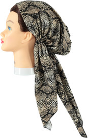 Riqki Cotton Leopard Long Tails Pre-Tied Bandana - Y1204