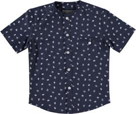 Boys No Collar SS Printed Shirt