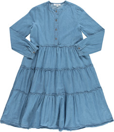 Women's Denim Tiered Dress