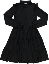 Women's Tiered Shirtdress In Black