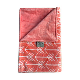 Arrows Coral Solid Blanket-SB34