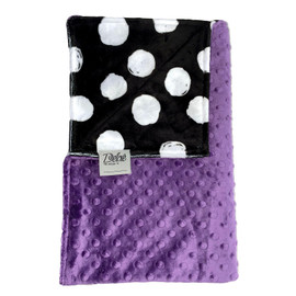 Bubbles/Purple Minky Dot Blanket-SB35