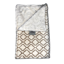 Quantifoil Ivory Tan/Embossed Honeycomb Ivory Blanket-SB45