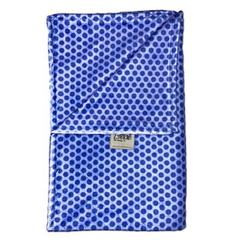 Mini Dots Blue Blanket-SB59