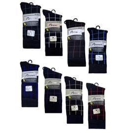 Florence Men's Modal Colored Plaid Socks