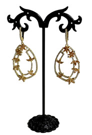 Flowers Gold Drop Earrings (AES35732W)