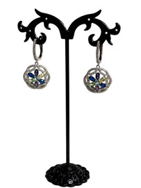 Silver YPB Flower Earrings (SET83493EW)