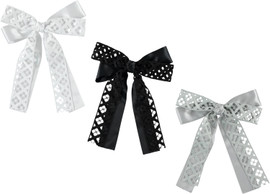 Girls Diamond Cutout Ribbon Clip