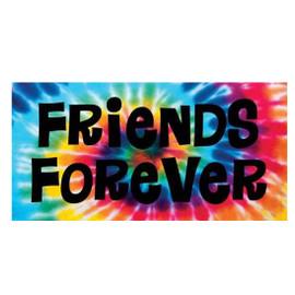 Tie Dye Friends Forever Towel- T26