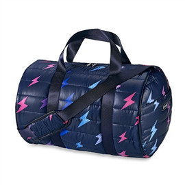 Top Trenz Lightening Bolt Puffer Duffel Bag-DUF-BOLT4