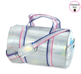Top Trenz Puffer Duffel Bag with Purple Sweetness Strap-DUF-PUFFSWEETNESS