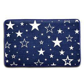 Top Trenz Navy Star Floor Mat - FM8-STAR