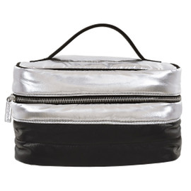 Silver Black Puffer Cosmetic Case 810-1081