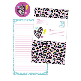Pink Leopard Fold over Cards 760-1171