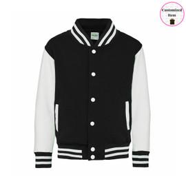 Varsity Adult Jacket Black/White