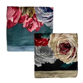 Riqki Open Floral Israeli Tichel-Y1223-OPEN