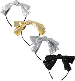 Girls Metallic Knot Bow