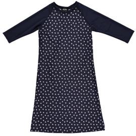 Girls Stars/Navy Swim Dress Cover up