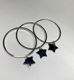 Girls Star Charm Bangle Set