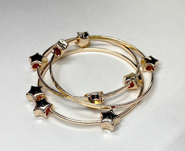 Girls Triple Star Bangle Set