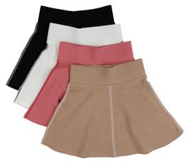 Contrast Seam Ribbed Skirt