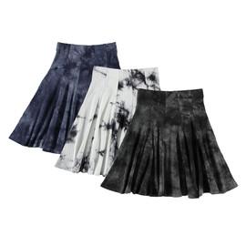 Girls Ribbed Tie Dye Panel Skirt