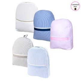 Seersucker Medium Backpack